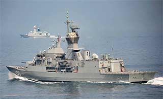 澳海军访华和中国军舰联合演练