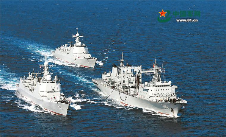 中国海军昂首阔步走向大洋 建设世界一流海军