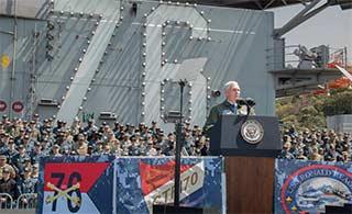 美副总统访日登上布什号航母
