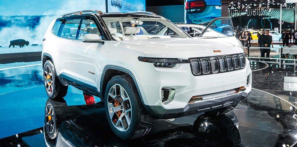 Jeep云图概念车亮相上海 全新七座SUV雏形
