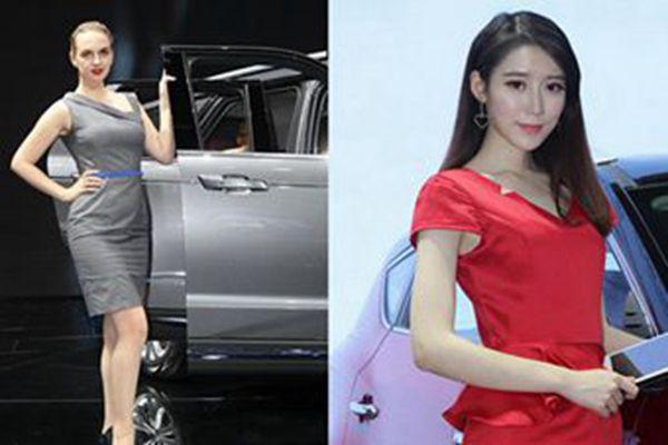 上海车展车模变美女礼仪 不抢豪车风头