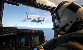 羡慕:美军MV22驾驶舱视线真好