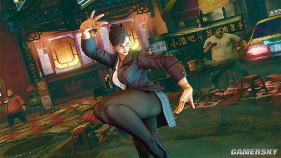 《街头霸王5》新DLC截图:春丽穿制服变女白领