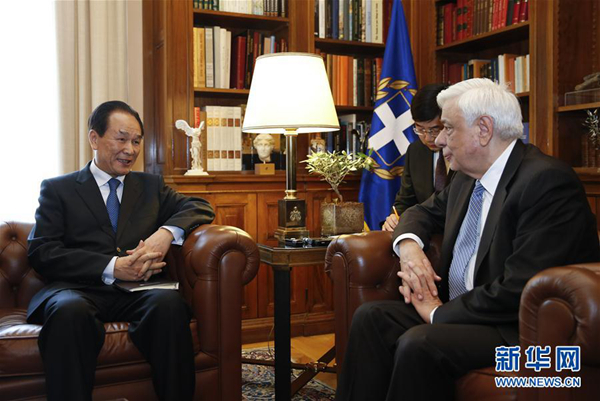"""希腊总统:""""一带一路""""高峰论坛具全球性意义"""