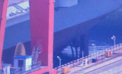 国产航母最新进展:船坞正在注水