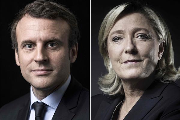 """马克龙和勒庞进入法国总统选举""""决赛"""""""