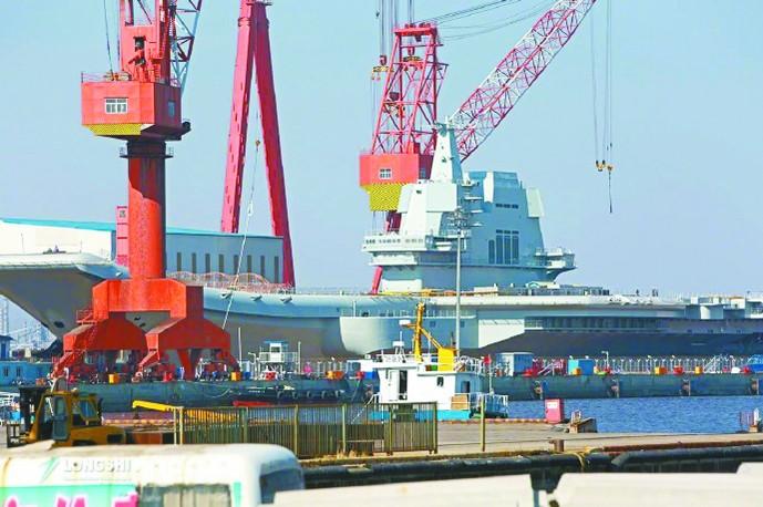 专家:中国第三艘航母或以惊人速度进入公众视野