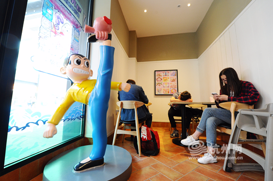 肯德基首家攻略动漫主题落户杭州滨江(餐厅)a攻略v攻略组图机器人图片