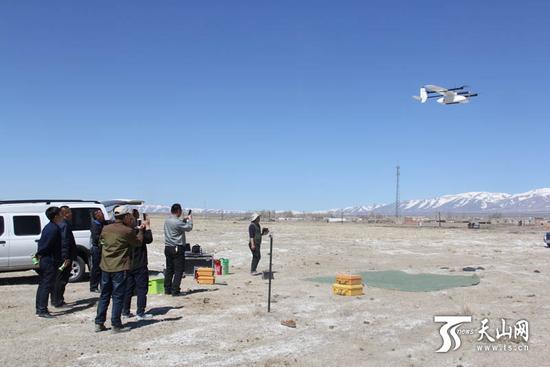 和布克赛尔县无人机测绘助力牧场工作