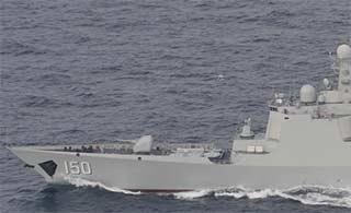 日海上自卫队跟踪中国舰队