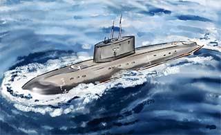手绘风格海军美图献礼海军节