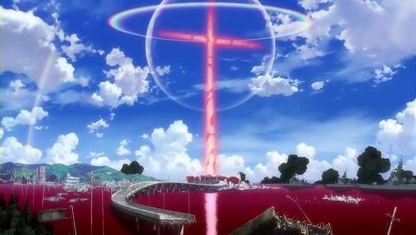 日本天空惊现巨型十字架 网友:EVA来了!