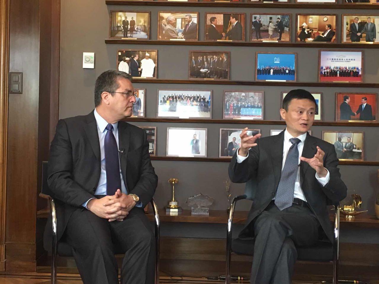 马云联合国第二站:与WTO总干事共话eWTP发展