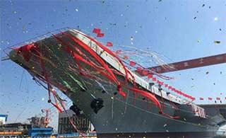 国产航母正式下水 范长龙致辞