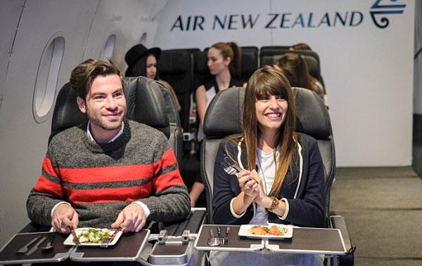 新西兰航空在英开航空餐厅 展示优质机上服务