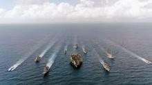 美国航母战斗群抵达韩国 配备上百战斧导弹