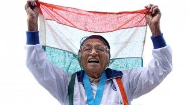 生命在于运动:印度101岁女人瑞百米短跑赛夺金