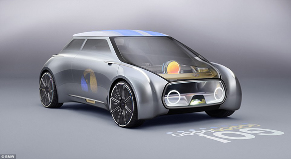宝马展出迷你概念车 车身可按司机心情变色