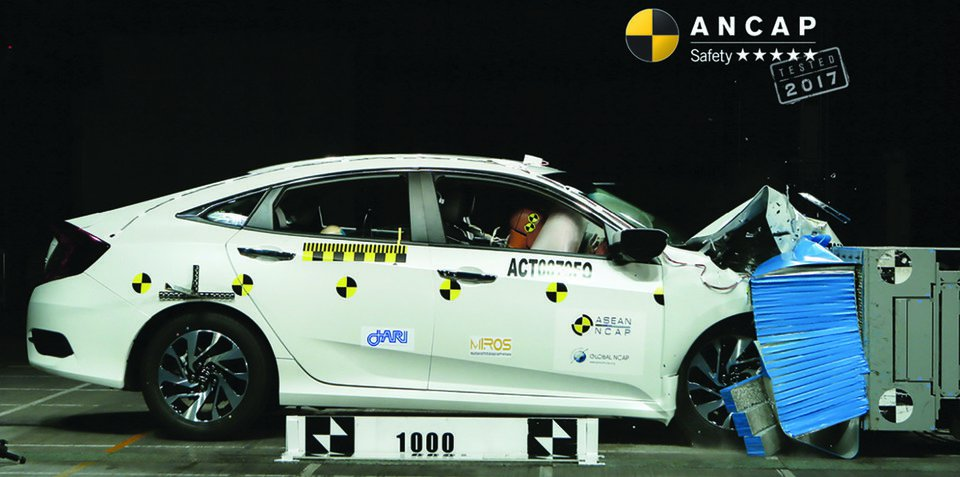 本田思域/现代i30获 澳洲ANCAP五星安全评级
