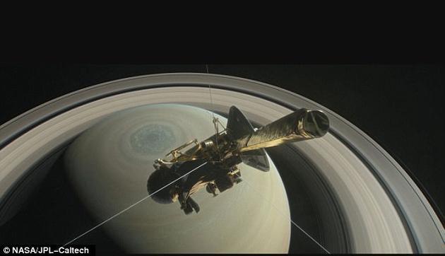最后的绝唱,卡西尼开始坠落探索土星神秘地带