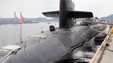 """美""""密歇根""""号核潜艇驶入韩国"""