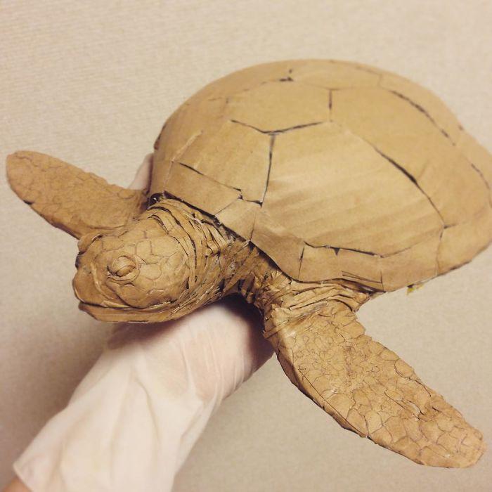 用纸做的海龟 图片来源:boredpanda