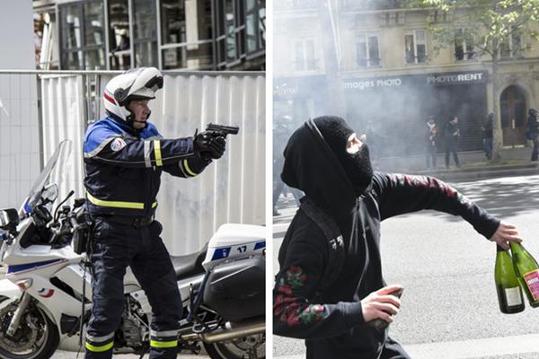 法国爆发大规模反候选人示威游行 引警民冲突