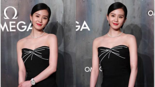 刘诗诗穿黑裙优雅亮相显干练
