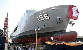 这个南美小国建造两栖舰正式下水