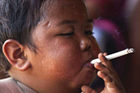 印尼最小年龄烟瘾者戒烟