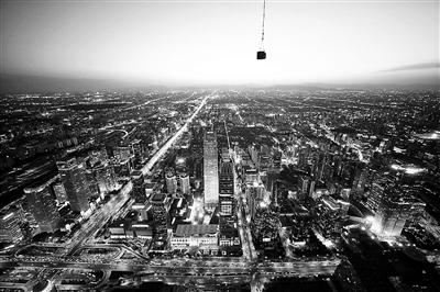 """北京在建最高地标建筑""""中国尊""""今日凌晨突破500米"""