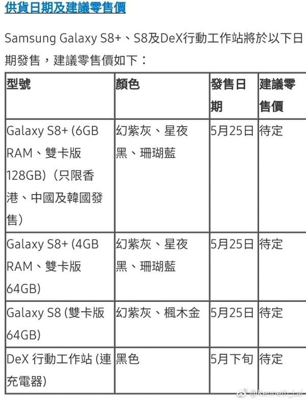 皇帝版国行S8+ 5月25日开售