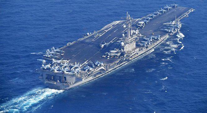 卡尔文森号驶离日本向朝鲜半岛进发 将与韩国军演