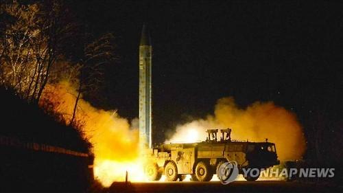 韩军方:朝鲜今发射1枚弹道导弹 或空中爆炸