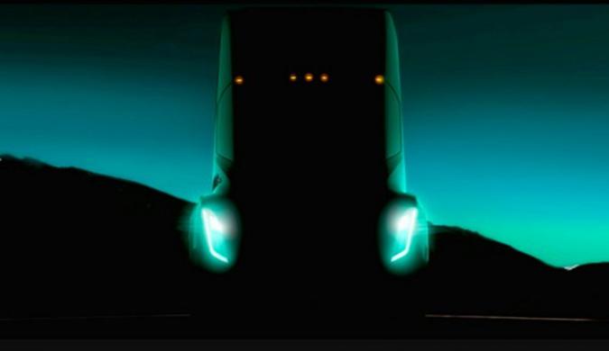 马斯克公布了特斯拉半挂电动卡车的第一张照片