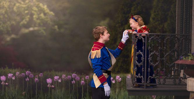 甜腻!5岁妹妹喜欢白雪公主 13岁哥哥暖心扮王子