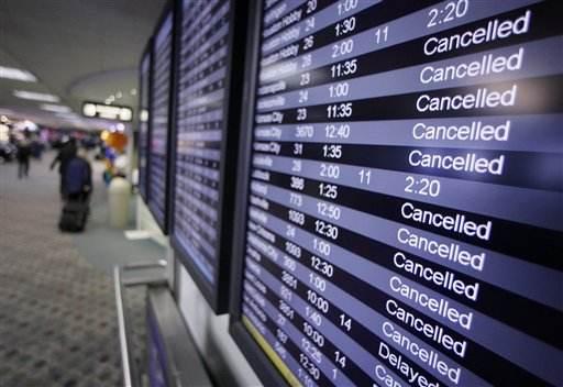 美媒:中国航空公司准点率垫底 近1/3航班延误