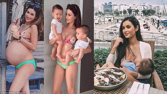 新加坡辣妈怀双胞胎  产后3周迅速恢复身材