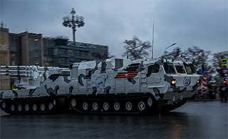 俄阅兵彩排神秘北极圈部队亮相