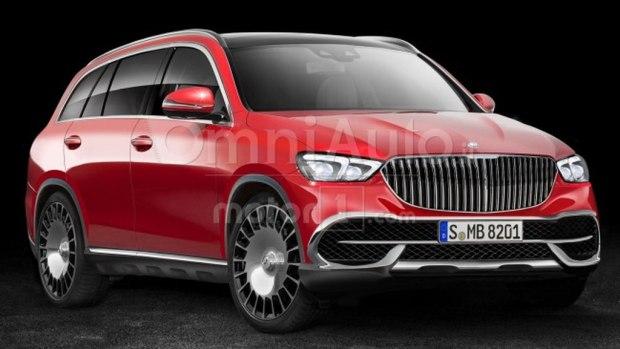 或搭V8发动机 迈巴赫全新SUV假想图