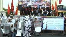 泰国工人举行劳动节游行