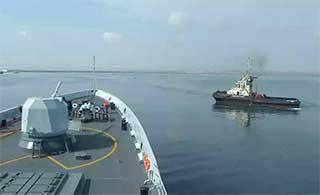 护航编队靠港吉布提进行休整