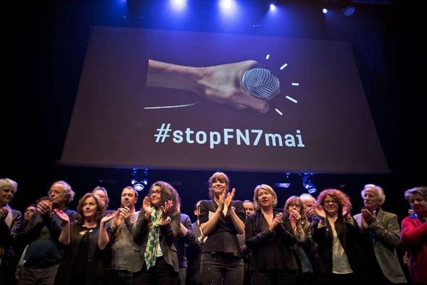 """法国千名艺术家共聚巴黎 一致反对勒庞及""""国民阵线"""""""