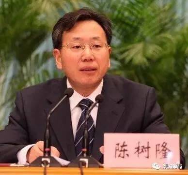 中纪委320字通报陈树隆违纪问题:比苏荣令计划都多