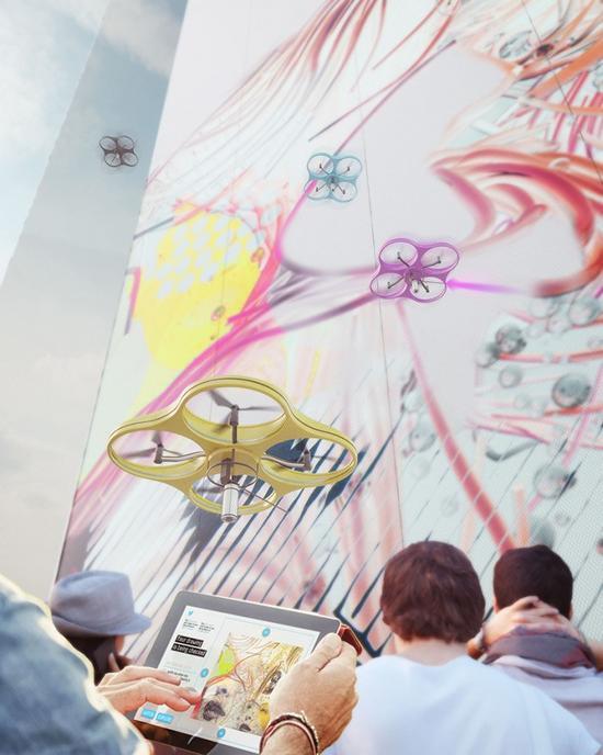 無人機創造涂鴉藝術品