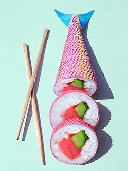 藝術家用食材制藝術品創意無限