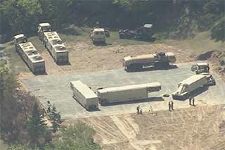 空中俯瞰韩国部署萨德系统