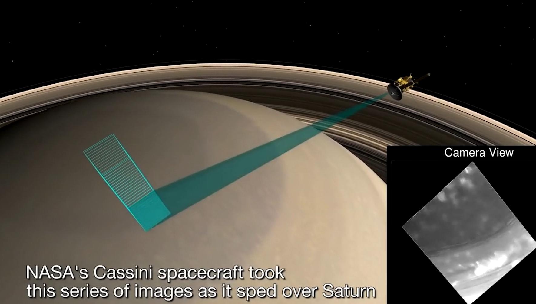 [视频]科技雷不撕:NASA发布卡西尼号俯冲向土星赤道的画面