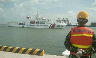越南2000吨级海警船访问中国
