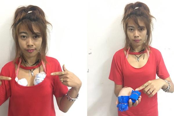 泰国女毒贩胸衣里藏毒打掩护 警方顺藤摸瓜一网打尽